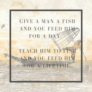 feed a man with fish